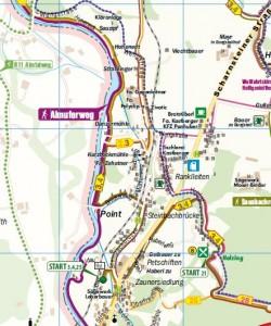 Kartenausschnitt Freizeitkarte Pettenbach
