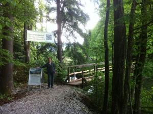 Brückensteg zur Danzermühle